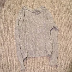 Light grey knit loose sweater (small)